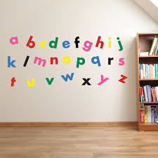Bedroom Wall Letter Stickers Childrens Wall Art Canvas Alphabet For Clroom Stickers Kids