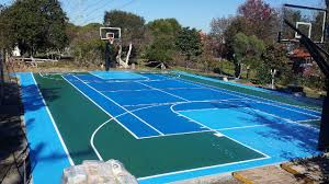 basketball court line striping youtube