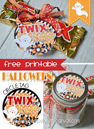 free printable halloween tag favor twix or treat can be used as