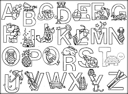 alphabet letters coloring pages funycoloring