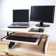 Laptop Desk Stands Laptop Riser For Desk Height Adjustable Sit Stand Desk Riser