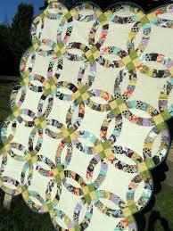 Double Wedding Ring Quilt by Sewcraftyjess Completed Quilt Double Wedding Ring