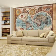 wall26 com art prints framed art canvas prints greeting wall26 antique illustrated map of the world two sphere projection historical depiction wall mural removable sticker home decor 66x96 inches