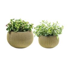 algreen self watering wicker white plastic hanging planter 2 pack