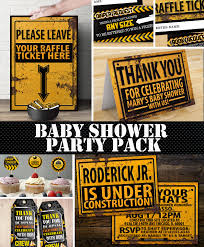 construction baby shower construction printable baby shower package construction