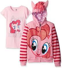 amazon com my little pony girls u0027 pinky pie hoodie clothing