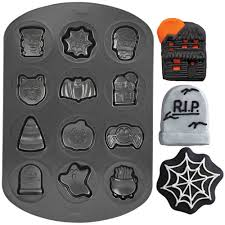 halloween cookie shapes non stick pan wilton