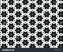 Moorish Design by Vector Geometric Abstract Moorish Pattern Black Stock Vector