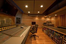 control room of studio a at clear track studios designed by