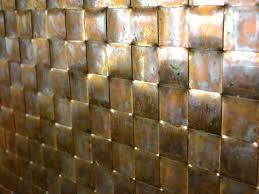 Brown Gray Metal Slate Backsplash by Kitchen Backsplashes Copper And Glass Backsplash Hammered In