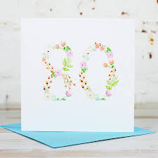 80th birthday card by yellowstone boutique