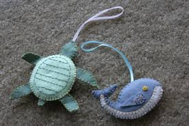 turtle and whale ornaments craft c capers