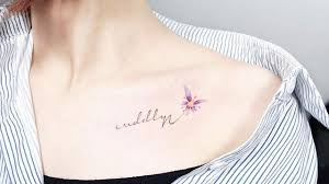 collarbone tattoos to go with shoulder baring necklines
