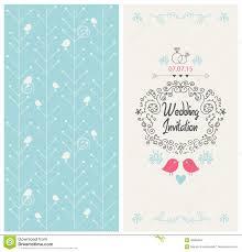 Design Card Wedding Invitation Vector Vintage Wedding Invitation Design Card Stock Vector Image