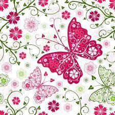 flower background butterfly pattern free vector 58 473