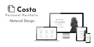 personal portfolio template download costa personal portfolio template nulled