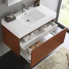 36 inch medicine cabinet fresca mezzo teak wall hung modern 36 inch bathroom vanity and