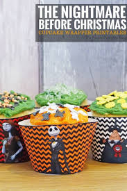 cupcake wrappers the nightmare before christmas crafty october