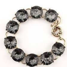 swarovski crystal gold plated bracelet images Clear black grey new made w brilliant huge swarovski crystal gold jpg