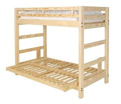 Twin XL Over Full XL Futon Bunk Bed With Optional Golden Oak - Futon bunk bed frame