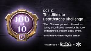 During Challenge Announcing Twitch S 100 In 10 Hearthstone Arena Challenge