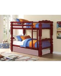 Bunk Bed Without Bottom Bunk Holiday Shopping Special 02570 Benji Twin Bunk Bed Cherry