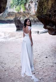 open back white flutter sleeve lace and chiffon a line beach