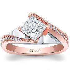 Princess Cut Diamond Wedding Rings by Barkev U0027s Swirl Compass Set Princess Cut Diamond Engagement Ring