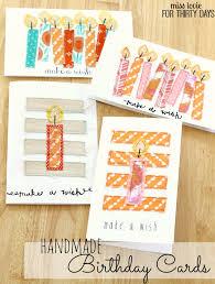 handsewn birthday cards
