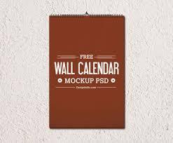 free wall calendar mockup psd templates on behance