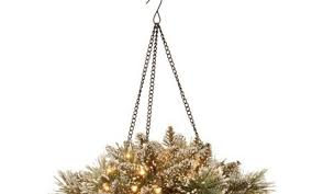 christmas hanging baskets with lights new christmas hanging baskets with lights best