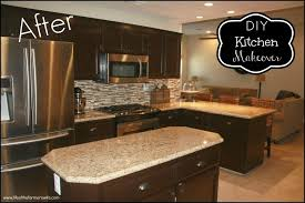 Gel Stained Cabinets Before And After How To Reface Oak Kitchen Cabinets Nrtradiant Com