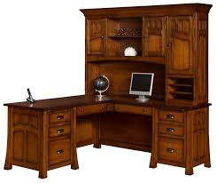 Mission Furniture Desk Bridgeport Mission L Desk With Optional Topper From Dutchcrafters