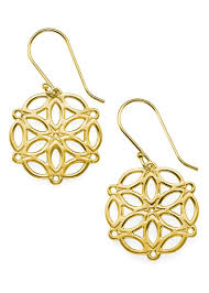 gold plated earrings circle of mandala 18k gold plated sterling silver earrings