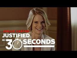 back of joelle carters hair justified s joelle carter talks about the series final episodes