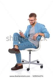 sitting on chair stock images royalty free images u0026 vectors