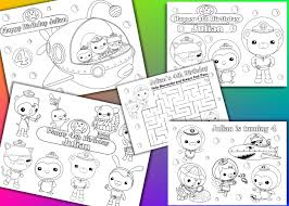 octonauts coloring pages octonauts birthday party favor octonauts coloring pages pdf
