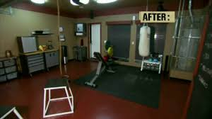 Gym Flooring For Garage by House Crashers Remodels Garage To Home Gym Youtube