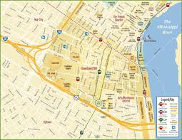 San Diego Downtown Map by New Orleans Maps Louisiana U S Maps Of New Orleans