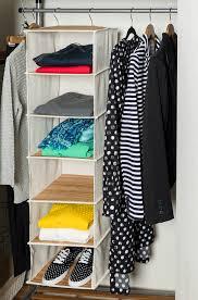 honey can do 6 shelf hanging organizer bamboo walmart com