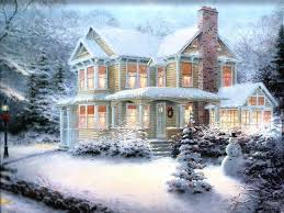 Winter House Winter Scenes Christmas Art 05 Beautiful Art Work And Unusual
