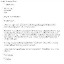 thank you letter after residency interview resume formatsample