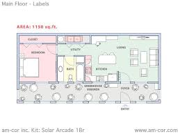 home floor plan kits beautiful home plan kits 1 am cor kit solar arcade 1br main