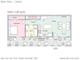 home floor plan kits beautiful home plan kits 1 am cor kit solar arcade 1br main