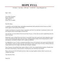 estate agent cover letter