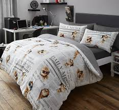 Duvet Cover Double Bed Size Cute Cats Newspaper Print Duvet Cover Set Double Bed Size Novelty