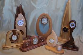 handcrafted wood clocks trellischicago