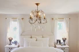 chandeliers ideas for bedroom with neutral color throughout