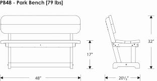 Commercial Grade Park Benches Polywood Pb48 Commercial Grade Outdoor Bench Polywood Furniture