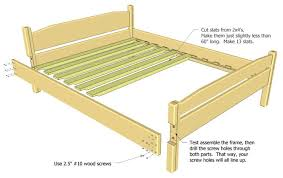 How To Make Bed Frame How To Build A Web Art Gallery Queen Size Bed Frame House Exteriors